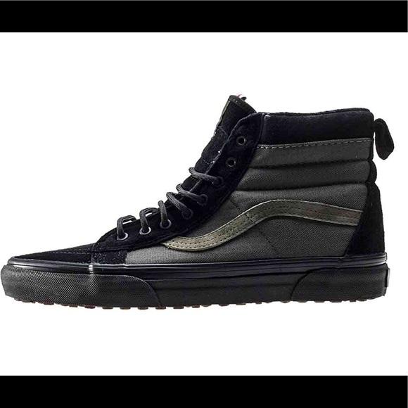 0eefa83911 Vans Sk8-Hi Army Green Black Mens 9.5 Weatherproof.  M 5b6b92acc2e9fec490332b62